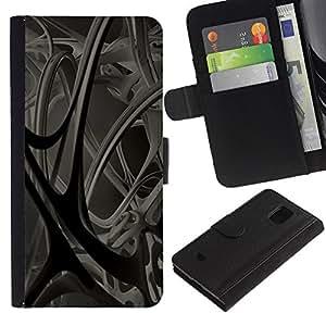 LASTONE PHONE CASE / Lujo Billetera de Cuero Caso del tirón Titular de la tarjeta Flip Carcasa Funda para Samsung Galaxy S5 Mini, SM-G800, NOT S5 REGULAR! / Anatomy Blood Vessels 3D Structure Modern Art