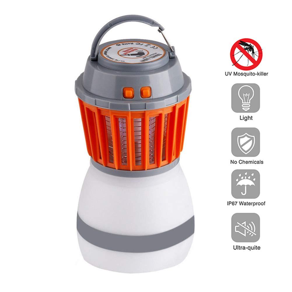 Mr. Fragile Zanzariera Elettrica, Ricarica USB, Luce da Campeggio a LED, con Funzione Bug Zapper, per Escursioni in Campeggio all'aperto, Controllo zanzare, Sicuro e Privo di Radiazioni