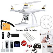 Blade Chroma Bind-N-Fly Drone with GoPro-Ready Fixed Camera Mount, 4+ Channel DSM2/DSMX Transmitter, FAZE Mini Quadcopter RTF, Prop Guard, and Extra 6300mAh 3S 11.1V LiPo Battery