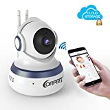 Wireless WiFi IP Security Camera, Corprit Home Surveillance Camera WiFi Baby Monitor with Night Vision, Pan/Tilt, Two way Talk by Android iOS App