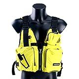 Amairne-made Boat Buoyancy Aid Sailing Kayak Fishing Life Jacket Vest - D13 -Yellow
