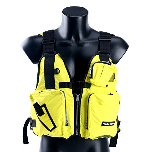 Amairne-made Boat Buoyancy Aid Sailing Kayak Fishing Life Jacket Vest - D13 -Yellow