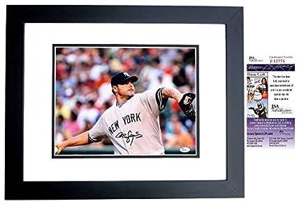 Rogers Clemens Autographed New York Yankees 11x14 Photo Black Custom