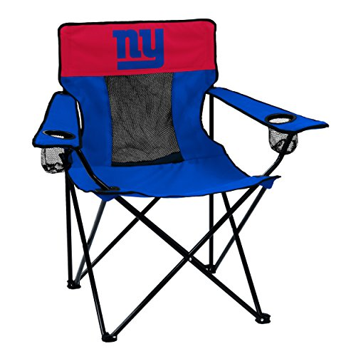 Logo Brands NFL New York Giants  Folding Elite Chair with Mesh Back and Carry Bag ,  Navy,  One Size ()