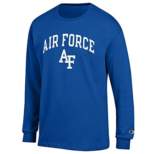 - Elite Fan Air Force Falcons Men's Long Sleeve Arch Tee Shirt, Royal, Large