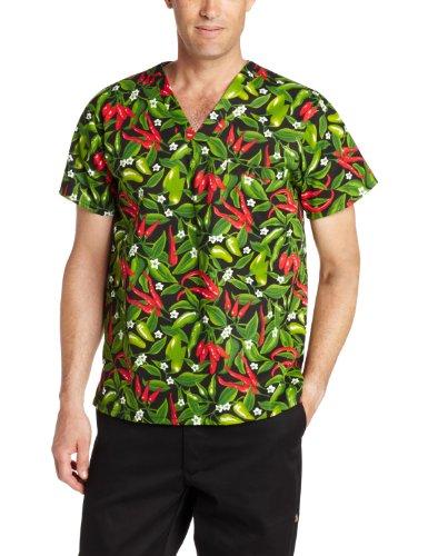 Pepper Dickies (Dickies Men's V-Neck Cook Shirt, Chili Pepper, 3X-Large)