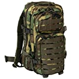 Mil-Tec Military Army Patrol Molle Assault Pack Tactical Combat Rucksack Backpack Bag 20L Woodland Camo Review