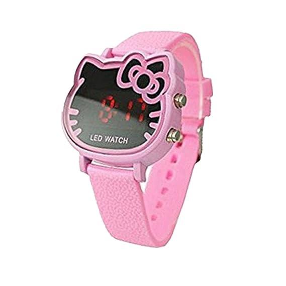 466434cb5 KiwiBaby Fashion Cute Led Hello Kitty Style Watch for Girl Women Kids  Children (pink): KARMO: Amazon.ca: Watches