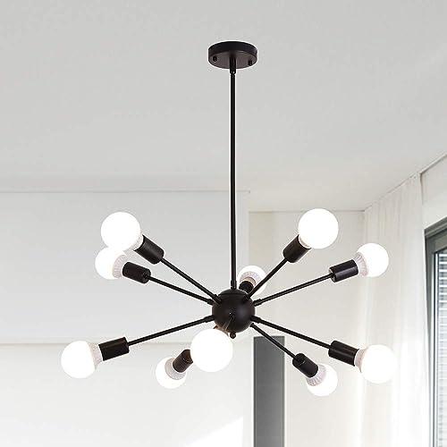 10 Lights Sputnik Chandelier Light Fixture Modern Pendant Lighting Vintage Ceiling Lamp