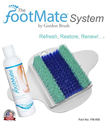 FootMate-Foot-Scrubber-and-Massager-for-Shower-with-Rejuvenating-Gel-Exclusive-White-and-Blue-FootMate-System