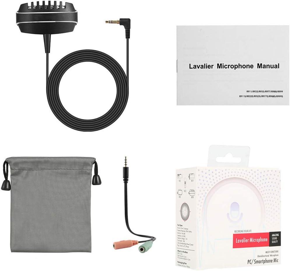 UHAoo - Mini Pinza para Smartphone portátil de 3,5 mm, micrófono ...