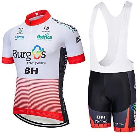TOPBIKEB Abbigliamento Ciclismo da Uomo Jerseys per Uomo Corta Manica Tuta Estivo Pantaloncini Ciclismo Uomo