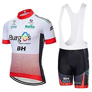 SUHINFE Traje Ciclismo Hombre, Maillot Ciclismo y Culotte Ciclismo con 5D Gel Pad para Verano Deportes al Aire Libre Ciclo Bicicleta