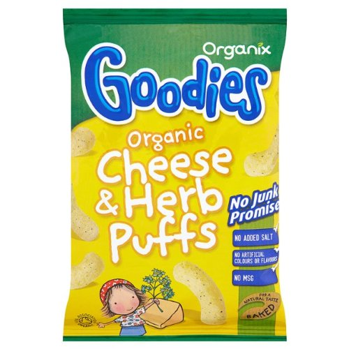 Organix Goodies Organic Cheese & Herb Puffs 15x15g Organix Brands Ltd