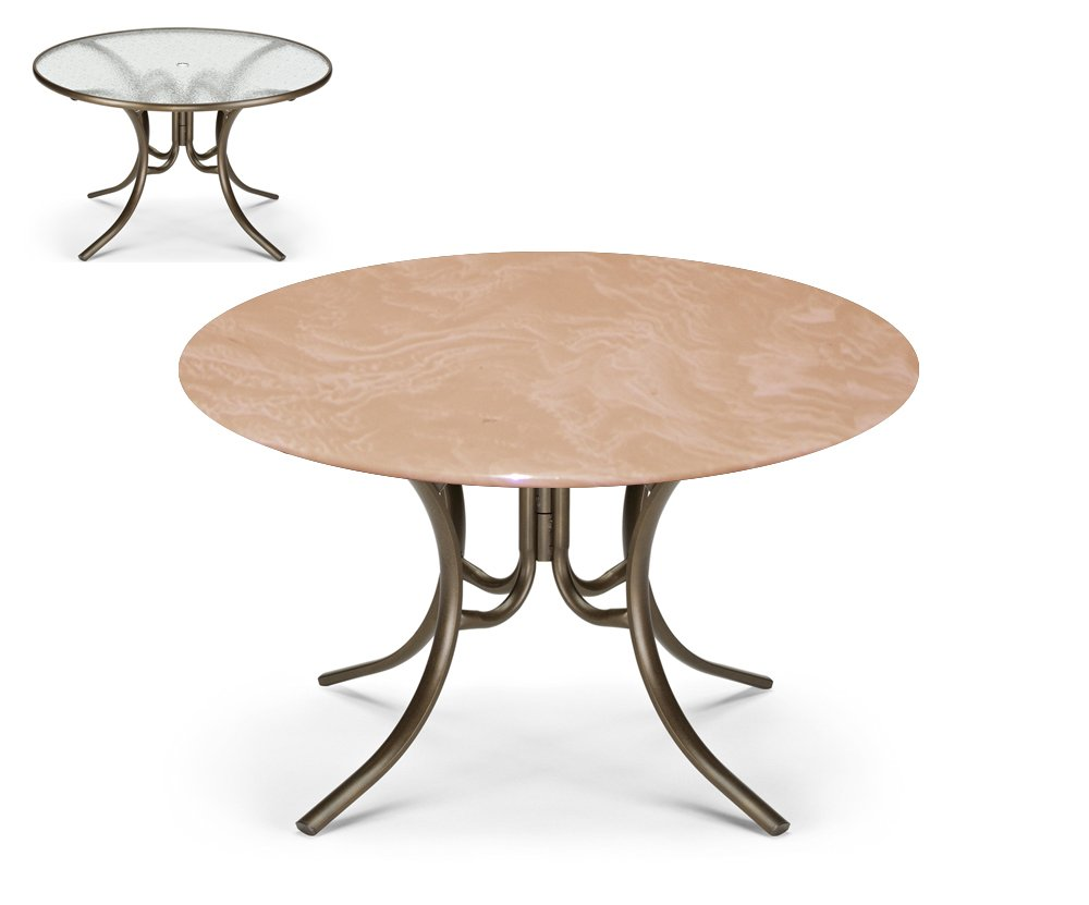 Bistro Round Fitted Table Cover for Glass Tables up to 35 Dia. for Round Tables and Patio Tables Color Mocha