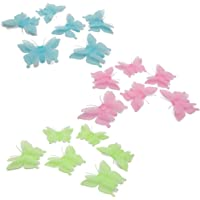 15 pcs Mix Color Three-dimensional Butterfly Luminous Toy Glow in Dark Toys Room Stickers for Kids Bedroom