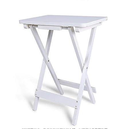 Mesa plegable simple Mesa HJCA - Mesa cuadrada pequeña de madera ...