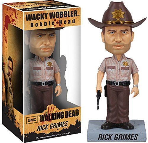 Rick Grimes Bobble Head Figure: Walking Dead x Wacky Wobbler Series