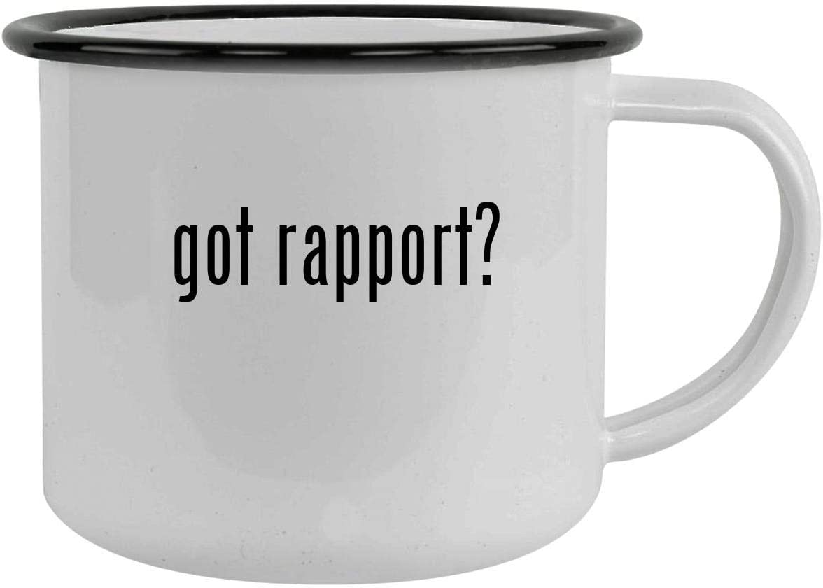 got rapport? - 12oz Camping Mug Stainless Steel, Black