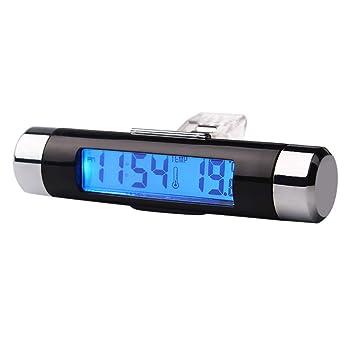 2-in-1 LCD Auto Car Elektronische Digital Thermometer Uhrzeit Temperaturanzeige