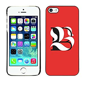 Colorful Printed Hard Protective Back Case Cover Shell Skin for Apple iPhone 5 / iPhone 5S ( B L Be Meaning Calligraphy Initial )