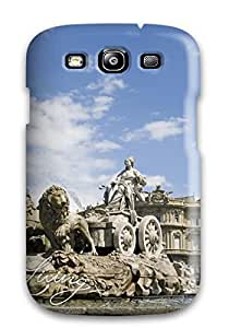 Galaxy S3 Hard Back With Bumper Silicone Gel Tpu Case Cover Madrid City