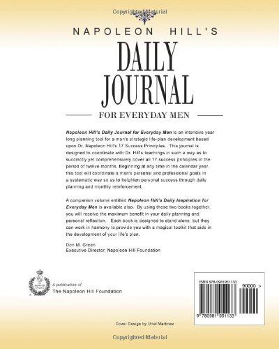 napoleon hill s daily journal for everyday men napoleon hill don m