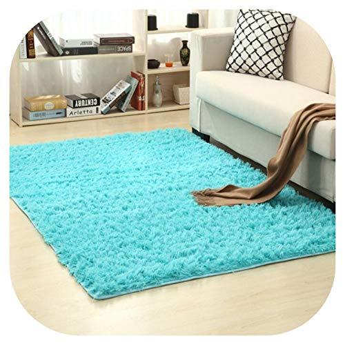 Soft Shaggy Carpet for Living Room European Home Warm Plush Floor Mats Kids Room Faux Fur Area Rug Living Room,Royal Blue,60cm x 160cm