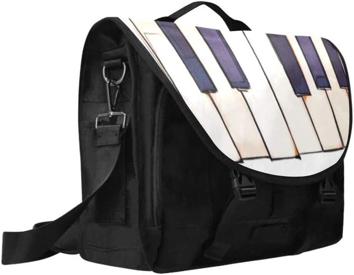 Cute Satchel Handbags for Women Black and White Piano Keys Multi-Functional Satchel Handbags for Men Fit for 15 Inch Computer Notebook MacBook