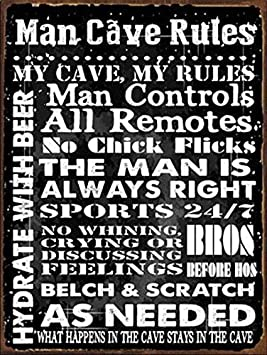 Stable Cowboy Barn Rules Rustic Decorative Horses Vintage Unique Home Wall Decor Tin Sign 7.87x 11.81 XUE002 Ranch