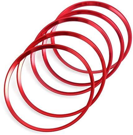 Lüftungsschlitze Dekoringe Dekoration Luftaustritt Lüftung Ringe Rot Alu Legierung Styling Blenden Klima Auto
