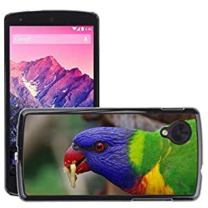 Super Stella Slim PC Hard Case Cover Skin Armor Shell Protection // M00148366 Parrot Bird Plumage Colorful Color // LG Nexus 5