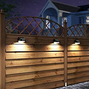 Solar Fence Post Lights OTHWAY Outdoor Waterproof Colorful Decorative Wall Lights Easy Installation Dark Sensing