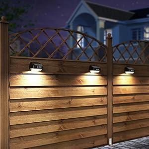 Solar Fence Post Lights OTHWAY Outdoor Waterproof Colorful Decorative Wall Lights Easy Installation Dark Sensing