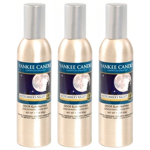 Yankee Candle Concentrated Room Spray 3-PACK (MidSummer's Night) - Midsummers Night Scent