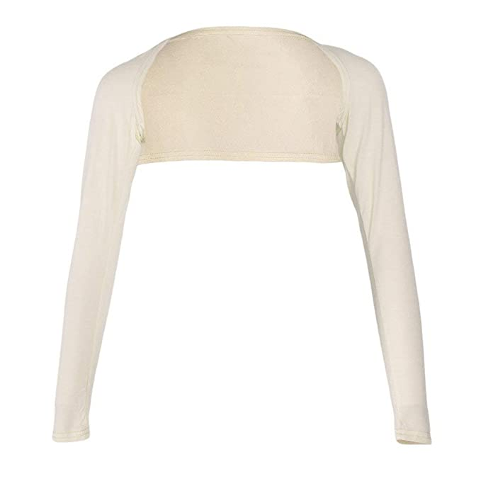 Bolero Mujer Primavera Verano Elegantes Moda Corto Abrigos Color Sólido Manga Larga Delgado Slim Fit Basic
