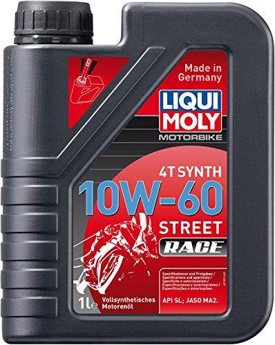 Liqui Moly (1525) 10W-60 High Performance Racing Synth 4T Motor Oil - 1 Liter Bottle