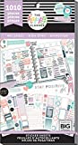 me & my BIG ideas PPSV-111-3048 Happy Planner Sticker Value Pack-Wellness, 1010/Pkg, Multi