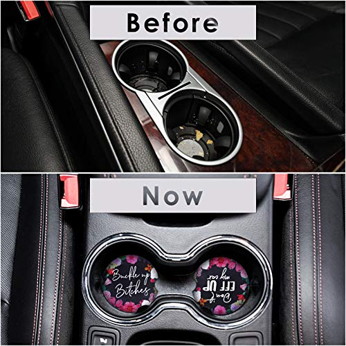 2PCS Car Coasters for Cup Holders - Perfect Absorbent Car Coasters Car Accessories 2.56\