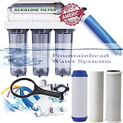 Alkaline Reverse Osmosis Water Filter Core System 150 GPD. Made in the U.S.A