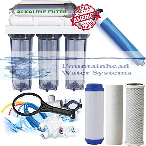Alkaline Reverse Osmosis Water Filter Core System 150 GPD. Made in the U.S.A by Fountainhead Water Systems