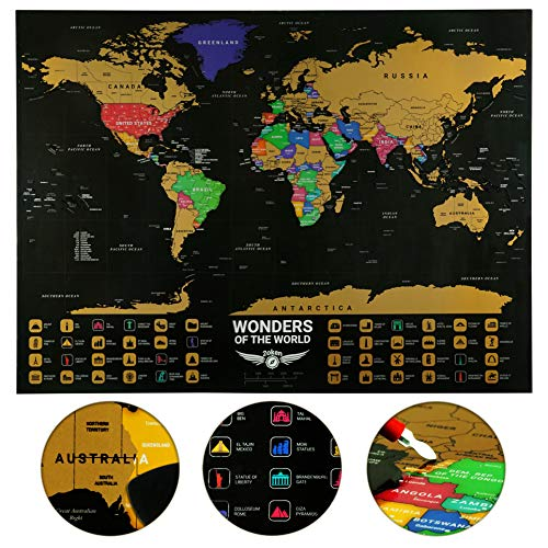 Large Scratch Map World Poster | 32