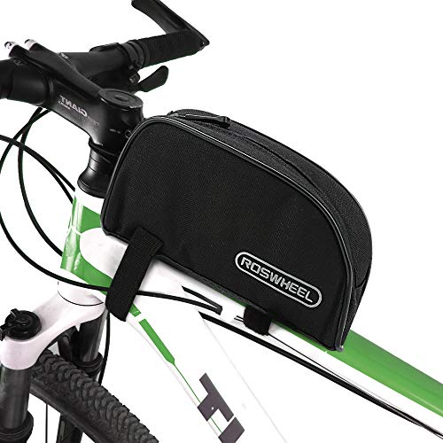 Allnice Bike Frame Bag 1L Bicycle Front Phone Bag Cycling Frame Front Top PVC Bicycle Top Tube Pack Cycling Accessories Pouch Cell Phone Holder