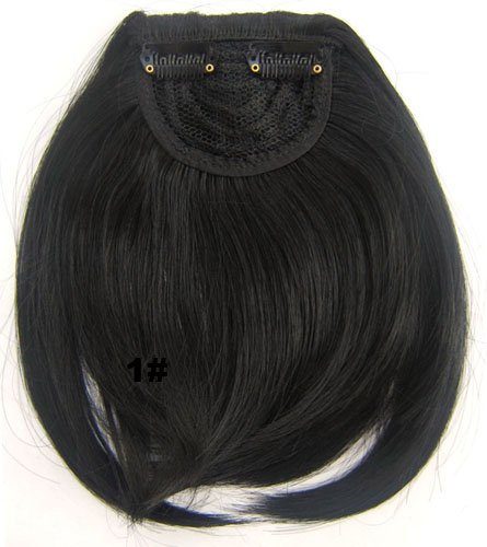 Amazon.com : MAYSU Fashion False Synthetic hair pieces Front Clip in hair bangs Fringe Hair extensions Accessories : Beauty