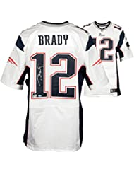 3e7d56607 Tom Brady New England Patriots Autographed White Elite Jersey - Fanatics  Authentic Certified - Autographed NFL