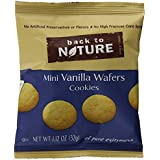 Back to Nature Non-GMO Cookies, Mini Vanilla Wafers, 1.12 Ounce, 6 Count (Pack of 4)