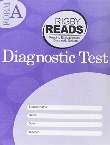 Rigby READS: Diagnostic Test Grade 4 Form A (Grade Test Diagnostic)