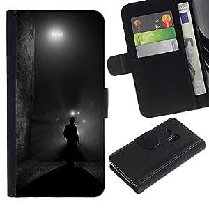 A-type (Street Black Man Holmes Mystery) Colorida Impresión Funda Cuero Monedero Caja Bolsa Cubierta Caja Piel Card Slots Para Samsung Galaxy S3 MINI 8190 (NOT S3)