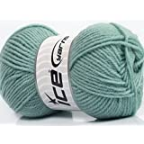 Lot of 8 Skeins Ice Yarns YARNS Derby Wool Mint Green