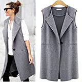 Gyoume Vest Coats Women Waistcoat Long Cardigan Coat Winter Tops Coat Teen School Jacket Coat